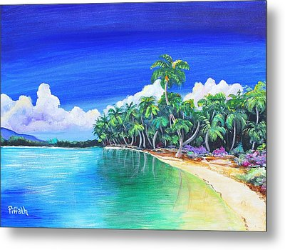 Metal Print featuring the painting Crescent Beach by Patricia Piffath