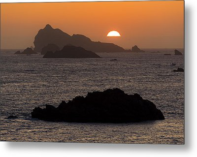 Crescent City Sunset From Battery Point Lighthouse Metal Print by Joe Doherty