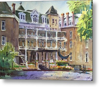 Crescent Hotel Metal Print by Spencer Meagher