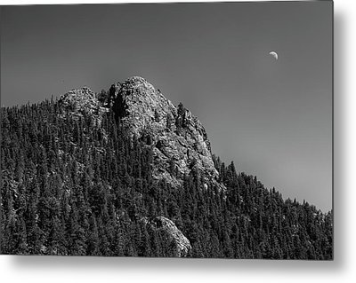 Metal Print featuring the photograph Crescent Moon And Buffalo Rock by James BO Insogna