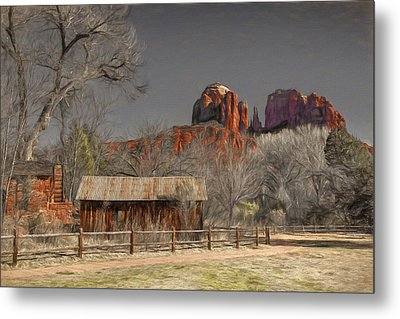Crescent Moon Ranch Metal Print by Donna Kennedy