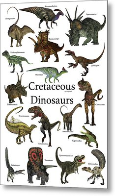 Cretaceous Dinosaurs Metal Print by Corey Ford