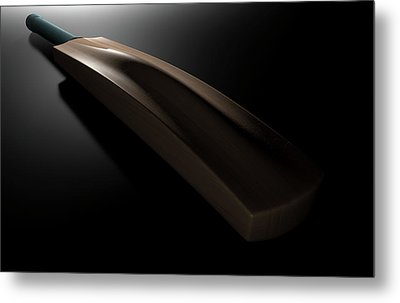 Cricket Bat Dark Metal Print by Allan Swart