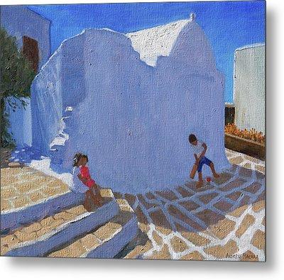 Cricket By The Church Wall, Mykonos  Metal Print