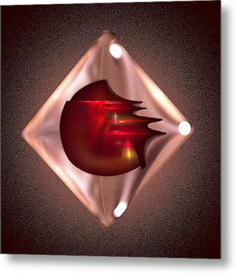 Crimson Heart Metal Print by Viktor Savchenko