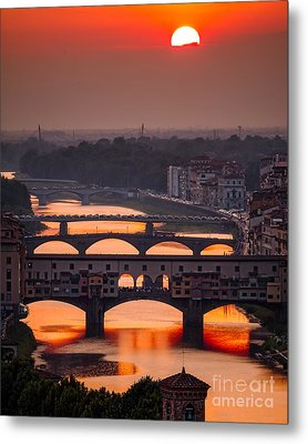Crimson River Metal Print by Giuseppe Torre