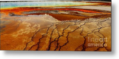 Metal Print featuring the photograph Crimson River by Robert Pearson