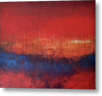 Crimson Sky Metal Print by Filomena Booth