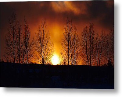 Crisp Sunset Metal Print