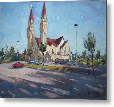 Croatian Centre-the Queen Of Peace Metal Print by Ylli Haruni