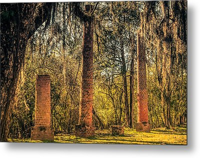 Crocheron Columns Old Cahawba Metal Print by Phillip Burrow