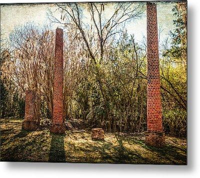 Crocheron Columns Metal Print by Phillip Burrow