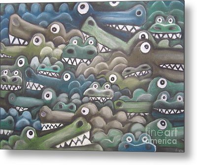 Crocodile Soup Metal Print