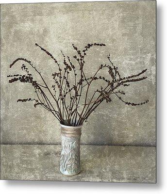Crocosmia Seed Pods Metal Print by Carol Leigh