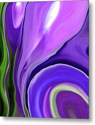 Crocus Abstract15 Metal Print by Linnea Tober