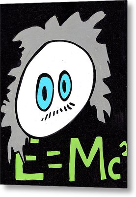 Cronkle Einstein Metal Print by Jera Sky