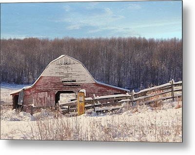 Crooked Fence Farm Metal Print by Benanne Stiens