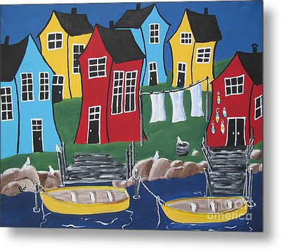 Crooked House Bay Metal Print by Beverly Livingstone