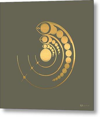 Crop Circle Formation Near Avebury  Metal Print by Serge Averbukh