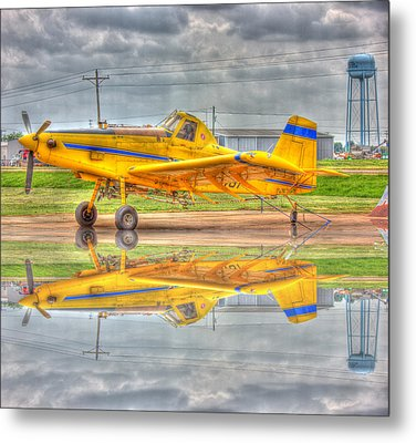 Crop Duster 002 Metal Print by Barry Jones