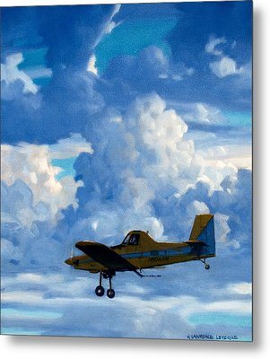 Crop Duster Metal Print by Kevin Lawrence Leveque