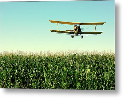 Crops Dusted Metal Print by Todd Klassy