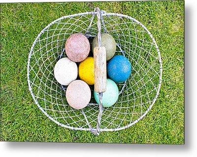 Croquet Balls Metal Print by Tom Gowanlock