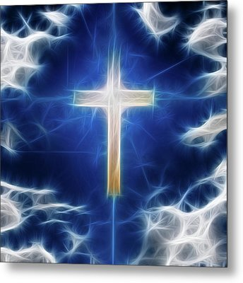 Cross Abstract Metal Print
