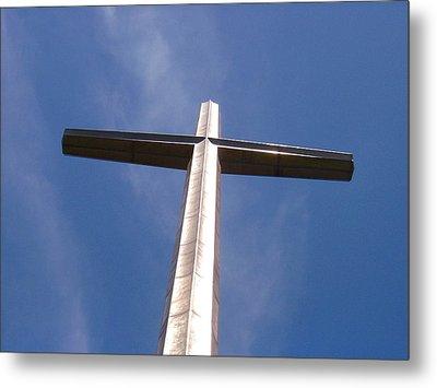 Cross At St. Augustine Metal Print