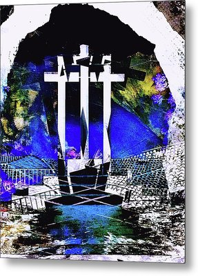 Cross Metal Print by Contemporary Art