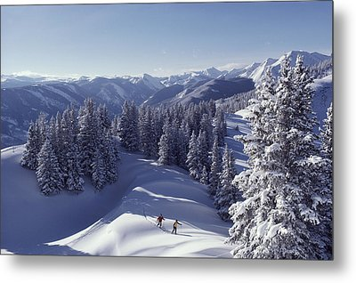 Cross-country Skiing In Aspen, Colorado Metal Print by Annie Griffiths