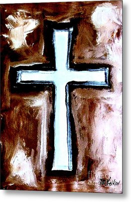 Cross For Me Metal Print by Marsha Heiken