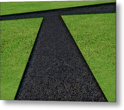 Metal Print featuring the photograph Cross Roads by Paul Wear