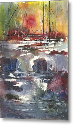 Crosscurrents Metal Print by Madelaine Alter