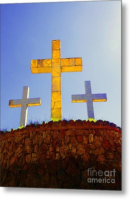 Crosses To Bear Metal Print by Al Bourassa