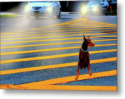 Crossing Guard Metal Print