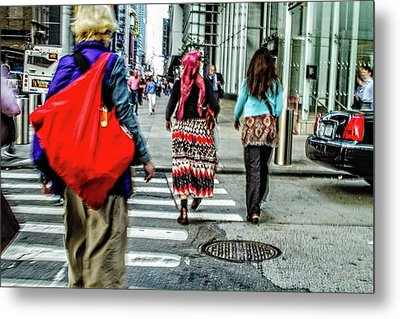 Metal Print featuring the photograph Crossing by Karol Livote