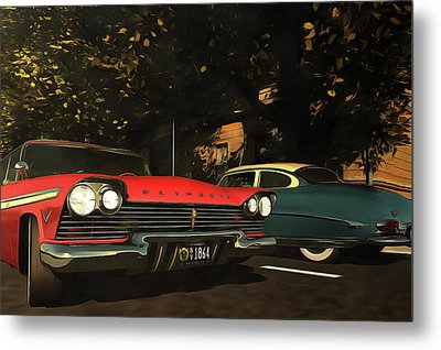 Crossing Oldtimers Metal Print