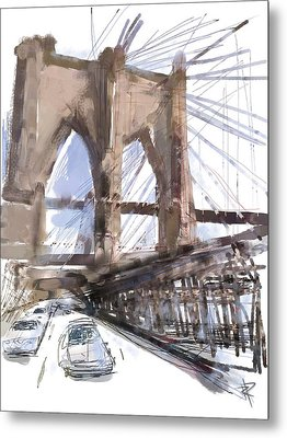Crossing Over Metal Print by Russell Pierce