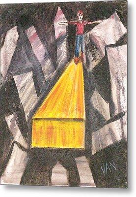 Crossing Over Metal Print by Van Winslow