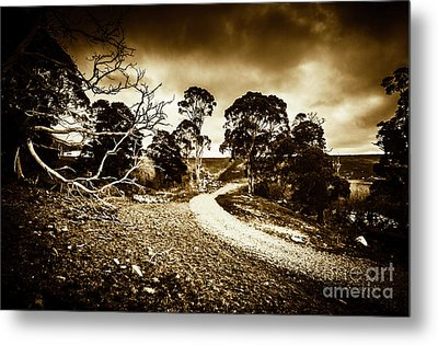 Crossing The Bleak Metal Print