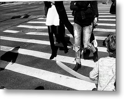 Metal Print featuring the photograph Crossings 235 by John Rizzuto