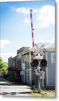 Metal Print featuring the photograph Crossings In Old Town Helena by Parker Cunningham