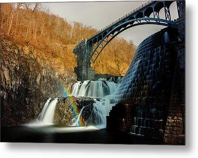 Croton Dam Rainbow Spray Metal Print