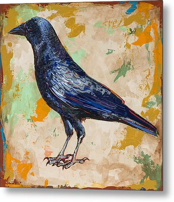 Crow #1 Metal Print by David Palmer
