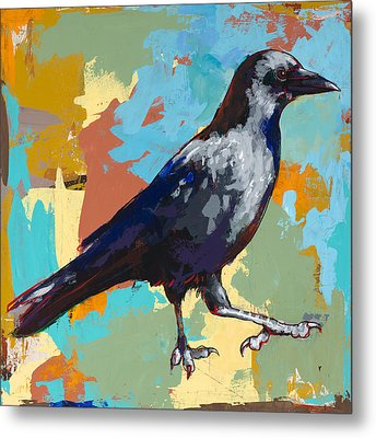 Crow #2 Metal Print by David Palmer