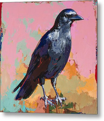 Crow #3 Metal Print by David Palmer