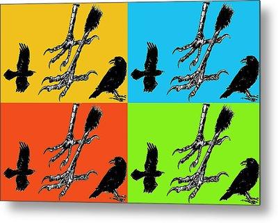 Crow Feet Four Metal Print by Diana Ludwig