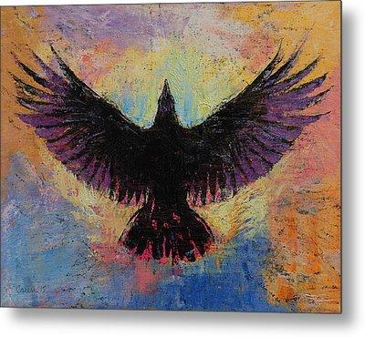 Crow Metal Print
