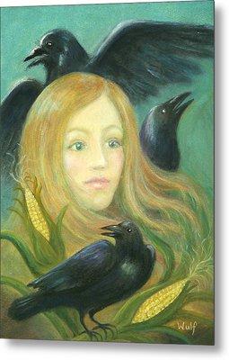 Crow Queen Metal Print